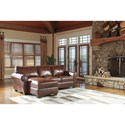 Signature Design by Ashley Lugoro Leather Match 2-Piece Sectional with Left Chaise