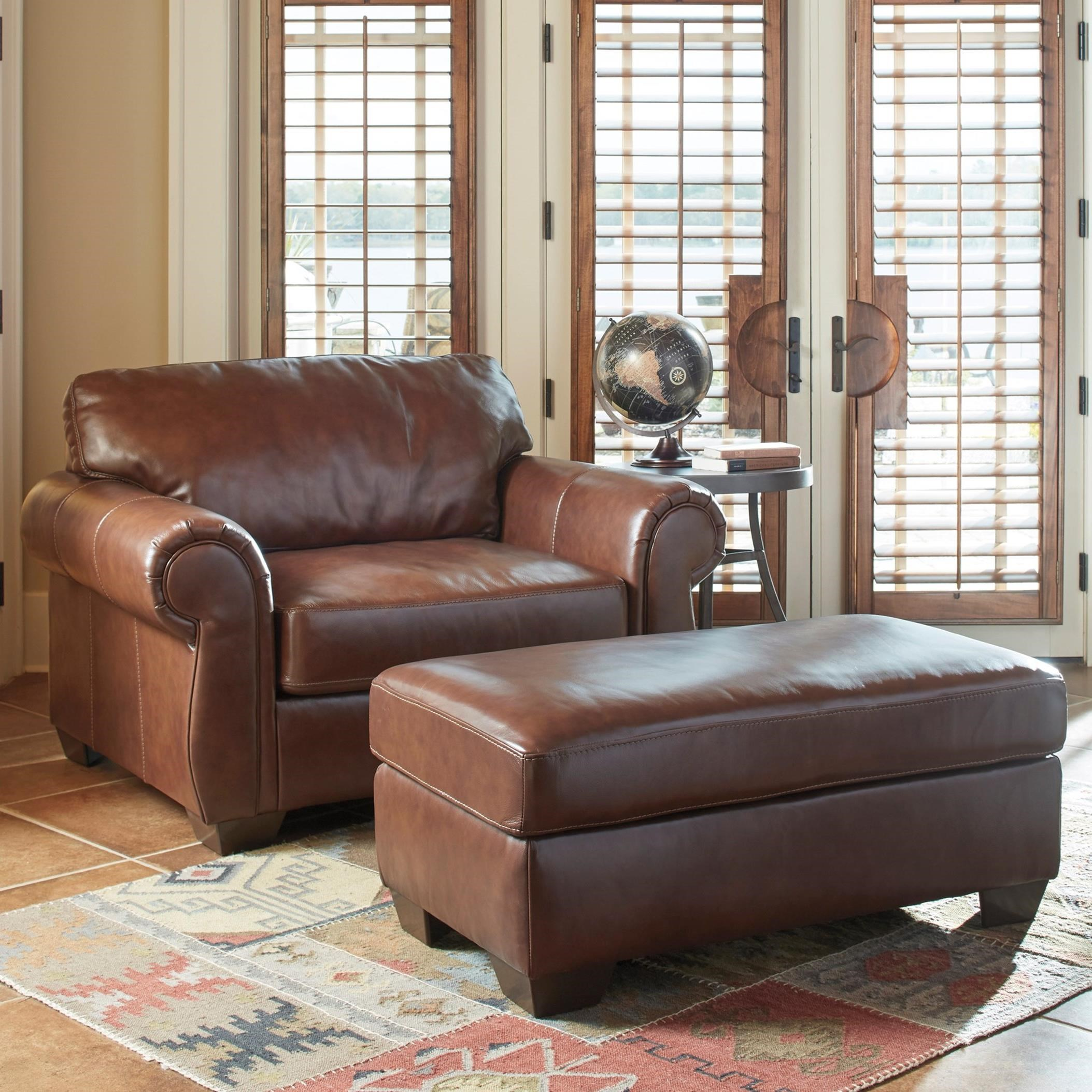 ashley tvoy ebay leather walnut half a and bhp axiom chair l upholstery with dcxqsa ottoman