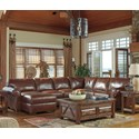 Signature Design by Ashley Lugoro 4-Piece Sectional with Right Chaise - Item Number: 5060255+77+34+17