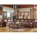 Signature Design by Ashley Lugoro 5-Piece Sectional with Right Chaise - Item Number: 5060255+77+34+46+17