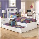 Signature Design by Ashley Lulu Trundle Under Bed Storage - Shown Used for Trundle Bed