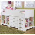 Signature Design by Ashley Lulu Twin Loft Bed w/ Loft Bin & Drawer Storage - Item Number: B102-68T+16+19+17+B100-11