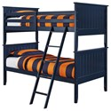 Signature Design by Ashley Leo Twin/Twin Bunk Bed - Item Number: B103-59P+R+S