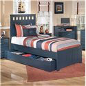 Signature Design by Ashley Leo Trundle Under Bed Storage - Shown Used for Storage
