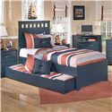 Signature Design by Ashley Leo Trundle Under Bed Storage - Shown Used as Trundle Bed