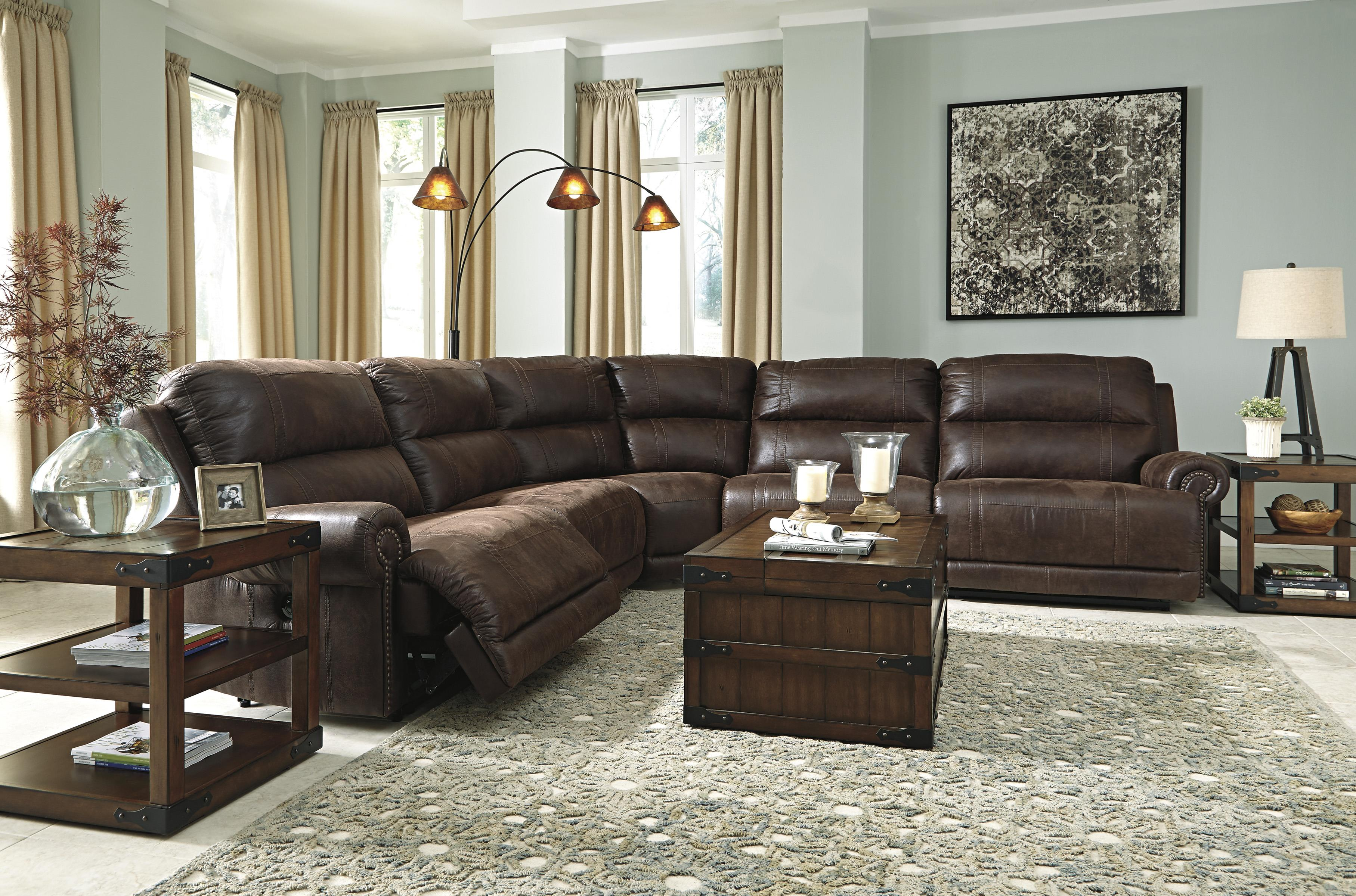 Ashley Signature Design Luttrell 5 Piece Faux Leather