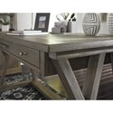Signature Design by Ashley Luxenford Relaxed Vintage Home Office Large Leg Desk
