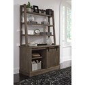 Signature Design by Ashley Luxenford Relaxed Vintage Credenza with 3-Tier Open Bookcase Hutch