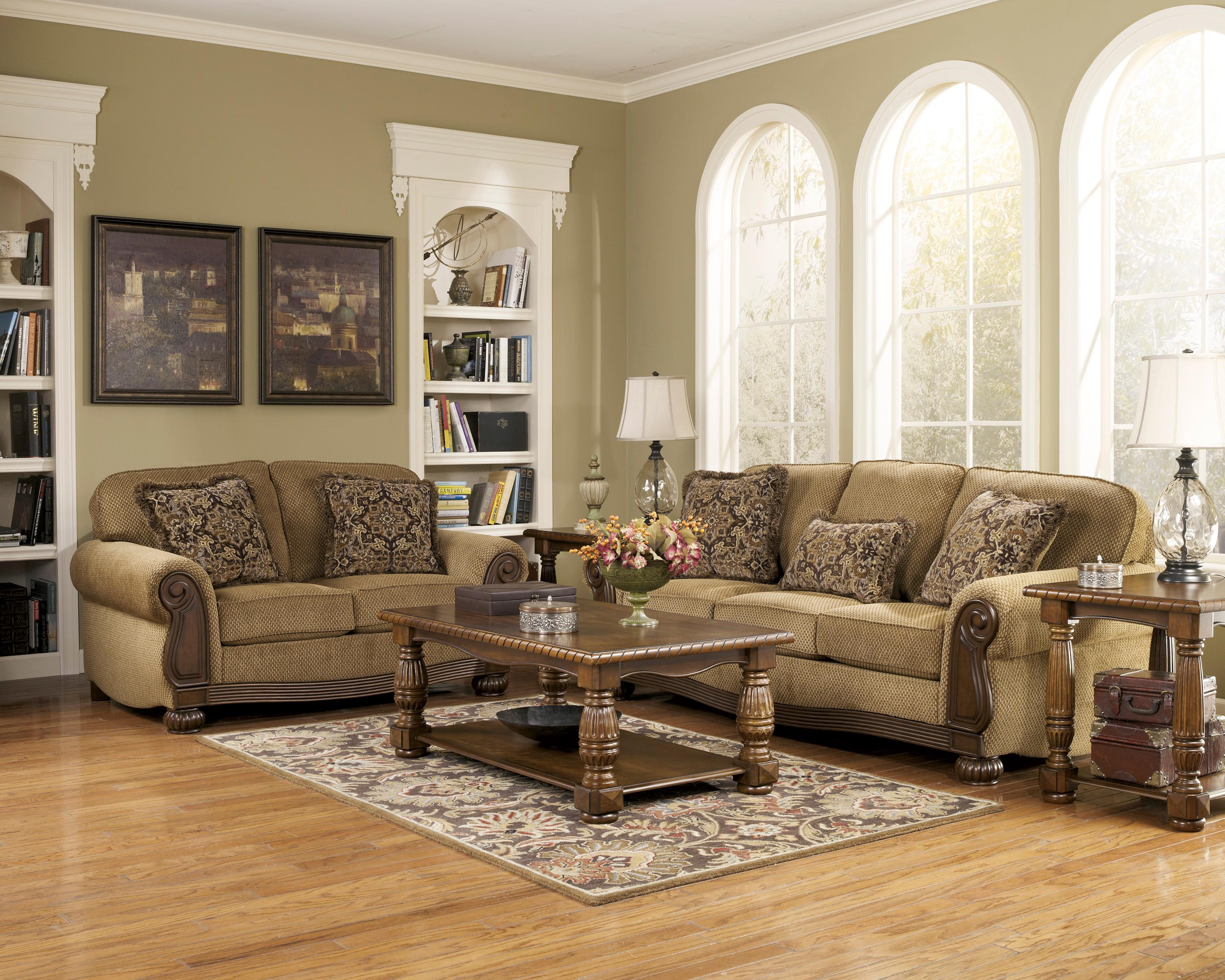 Signature Design by Ashley Lynnwood - Amber Stationary Living Room Group - Item Number: 68500 Living Room Group 1