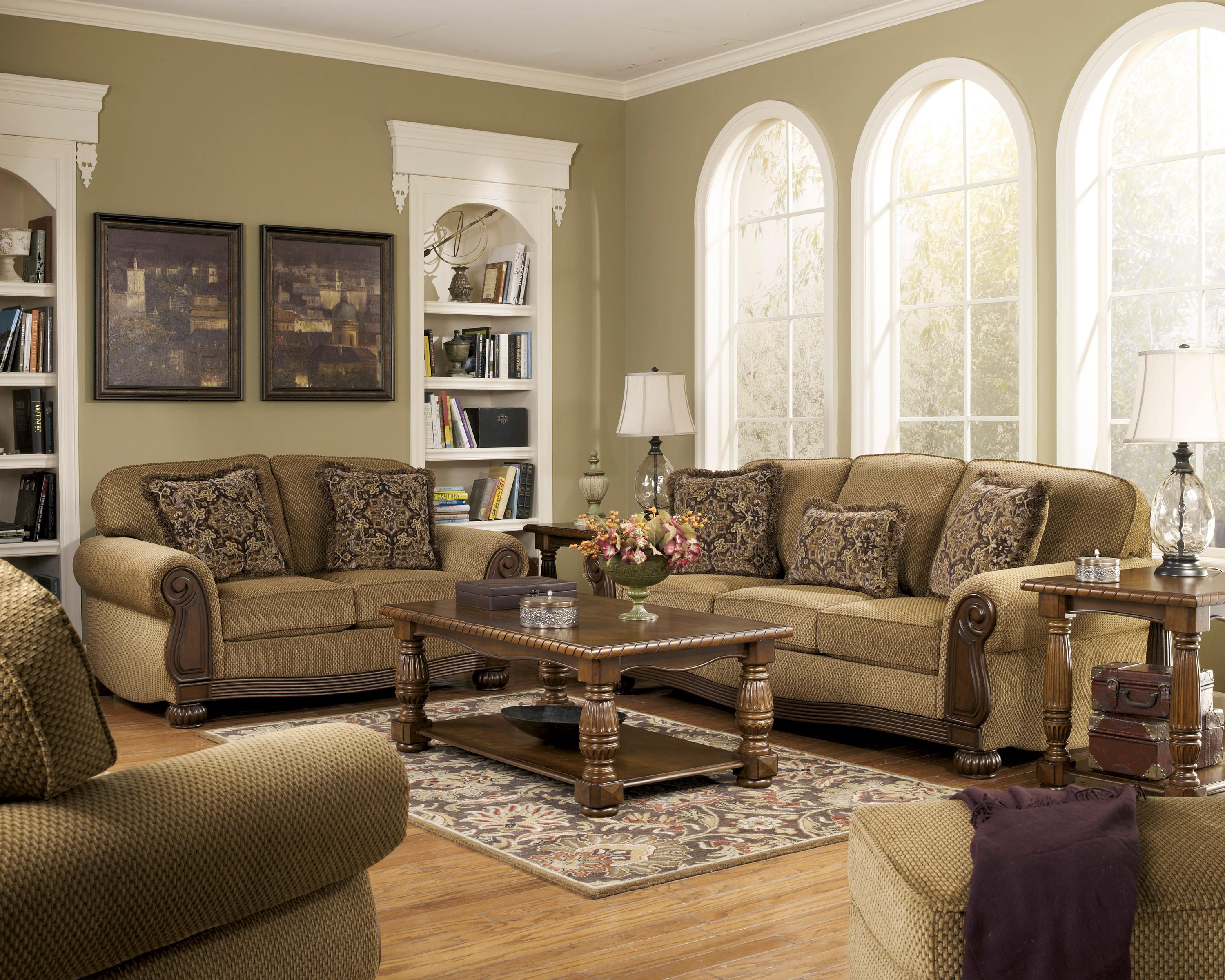 Signature Design by Ashley Lynnwood - Amber Stationary Living Room Group - Item Number: 68500 Living Room Group 3