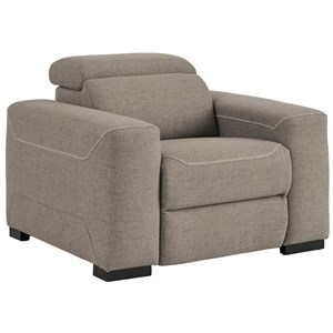 Power Recliner w/ Adj. Headrest