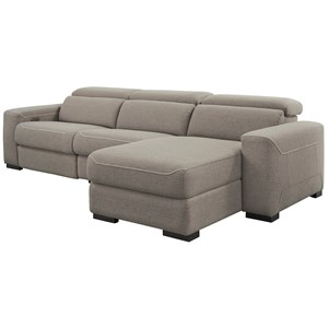 3-Piece Power Reclining Sectional w/ Chaise