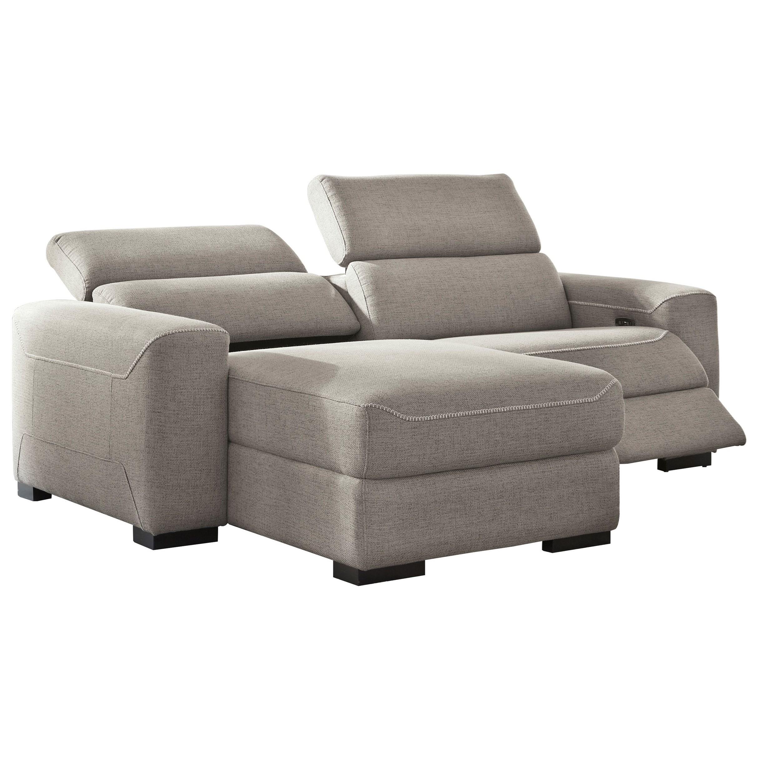 Mabton 2-Piece Power Reclining Sectional w/ Chaise by Ashley (Signature Design) at Johnny Janosik