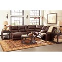 Signature Design by Ashley MacGrath DuraBlend® Reclining Sectional with Chaise