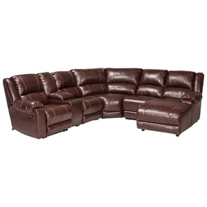Ashley (Signature Design) MacGrath DuraBlend® Reclining Sectional with Chaise