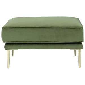 Modern Ottoman with Metal Legs