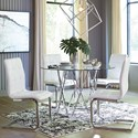 Signature Design by Ashley Madanere  Contemporary Industrial 5 Piece Dining Set with Glass Top