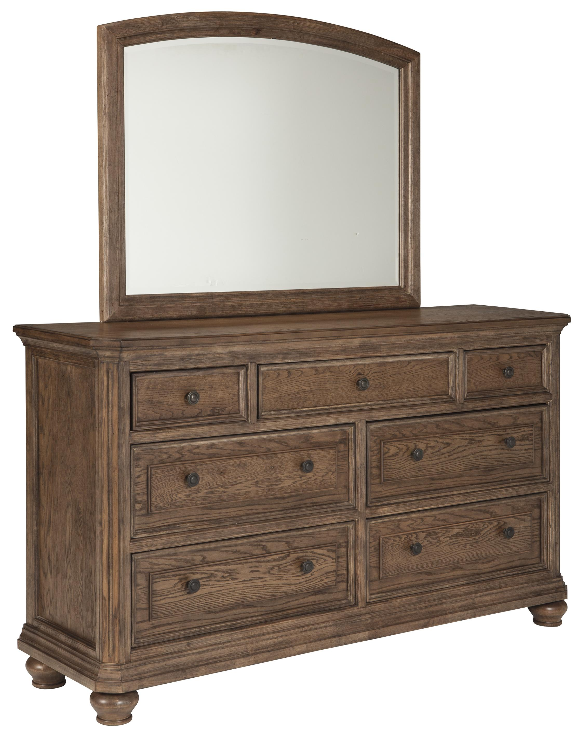 Signature Design by Ashley Maeleen Dresser & Bedroom Mirror - Item Number: B709-31+36