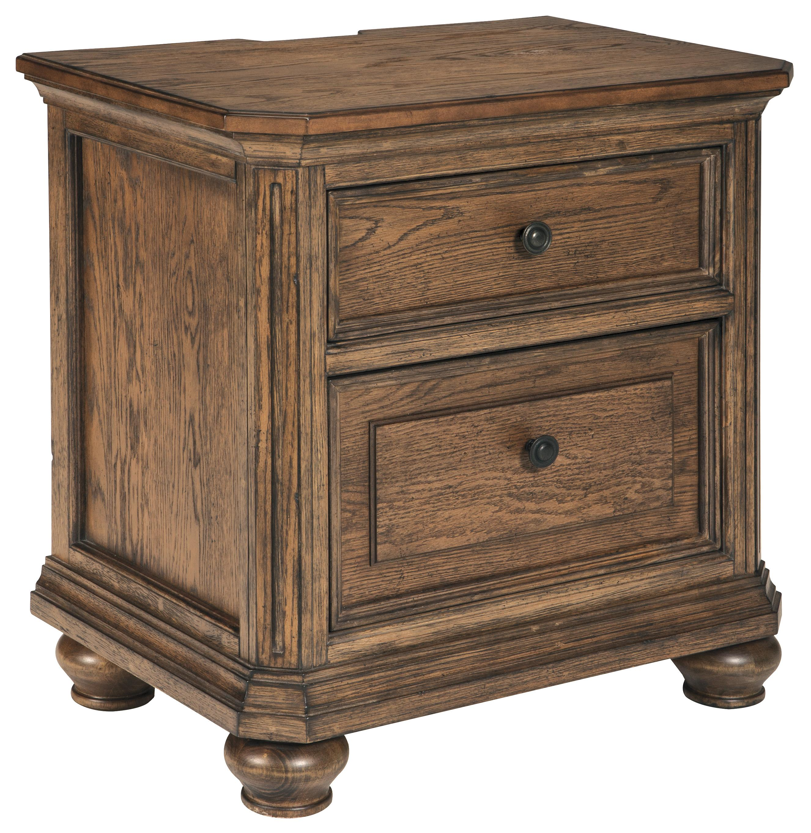 Signature Design by Ashley Maeleen Two Drawer Night Stand - Item Number: B709-92