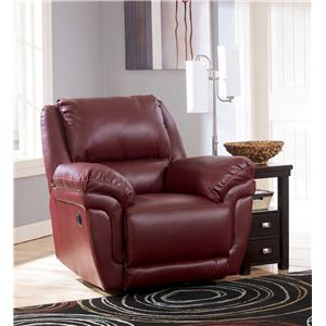 Signature Design by Ashley Magician DuraBlend - Garnet Rocker Recliner