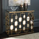 Signature Design by Ashley Majaci Metal Console Table with Oval Mirrors