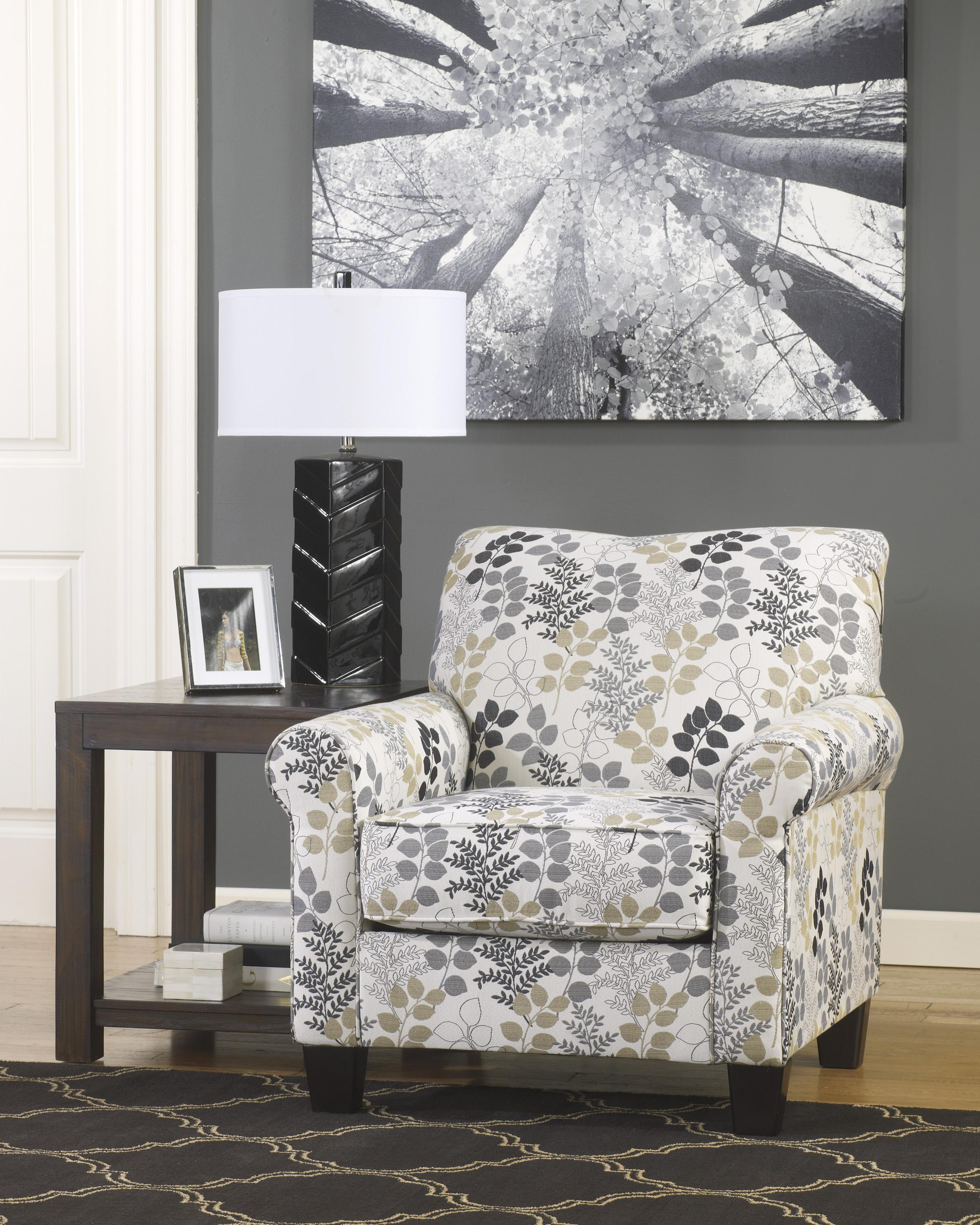 Missoni Style Print Accent Chair: Signature Design By Ashley Makonnen Contemporary Accent