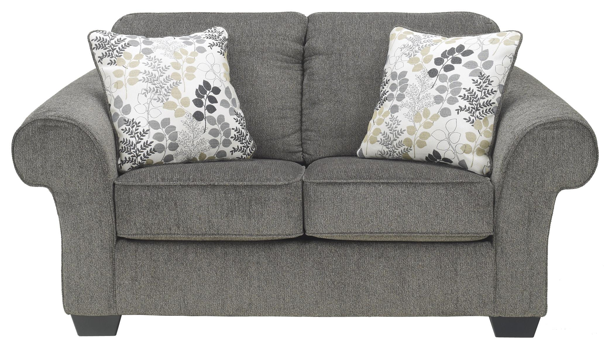 Signature Design by Ashley Makonnen - Charcoal Loveseat - Item Number: 7800035