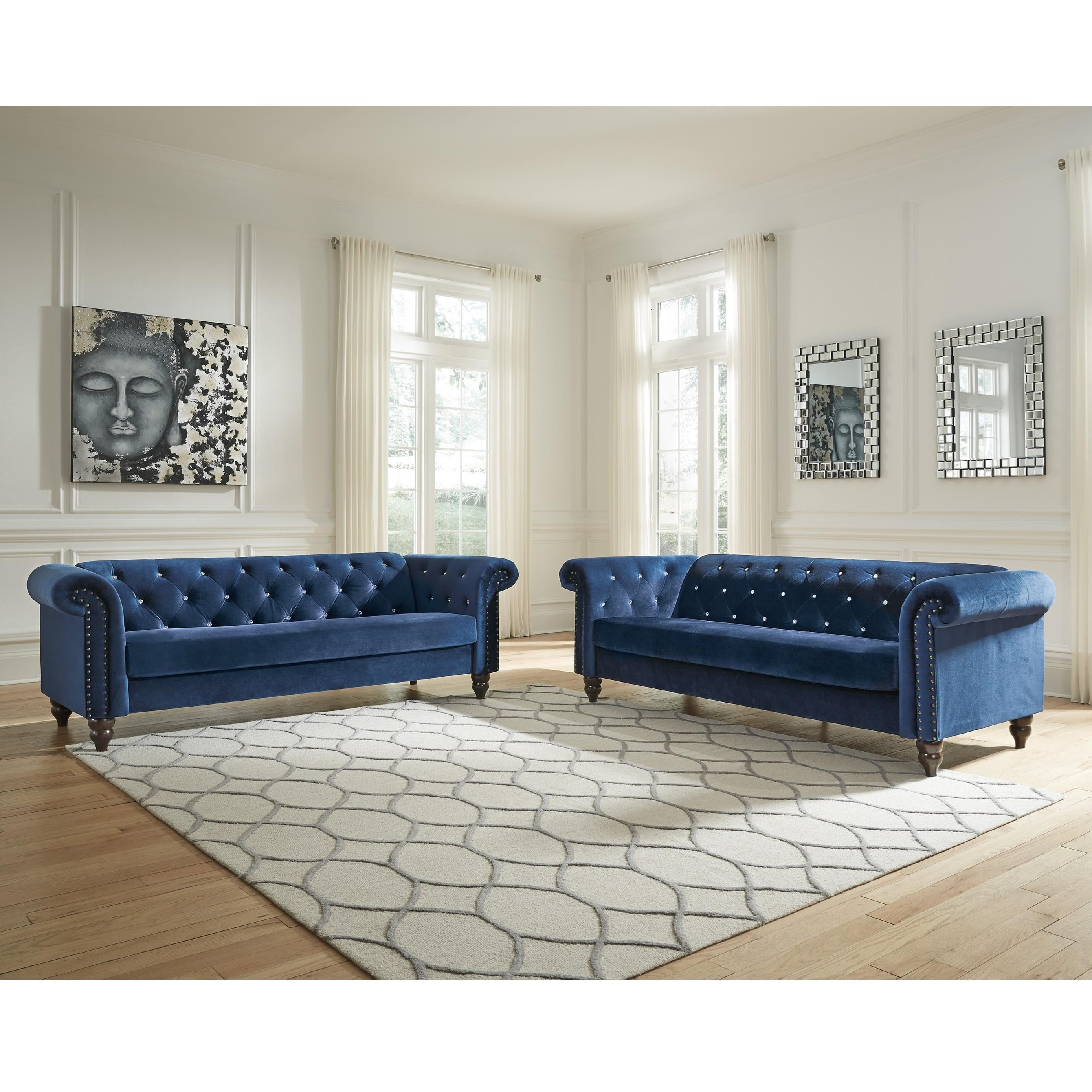 Signature Design by Ashley Malchin Stationary Living Room Group - Item Number: 40302 Living Room Group