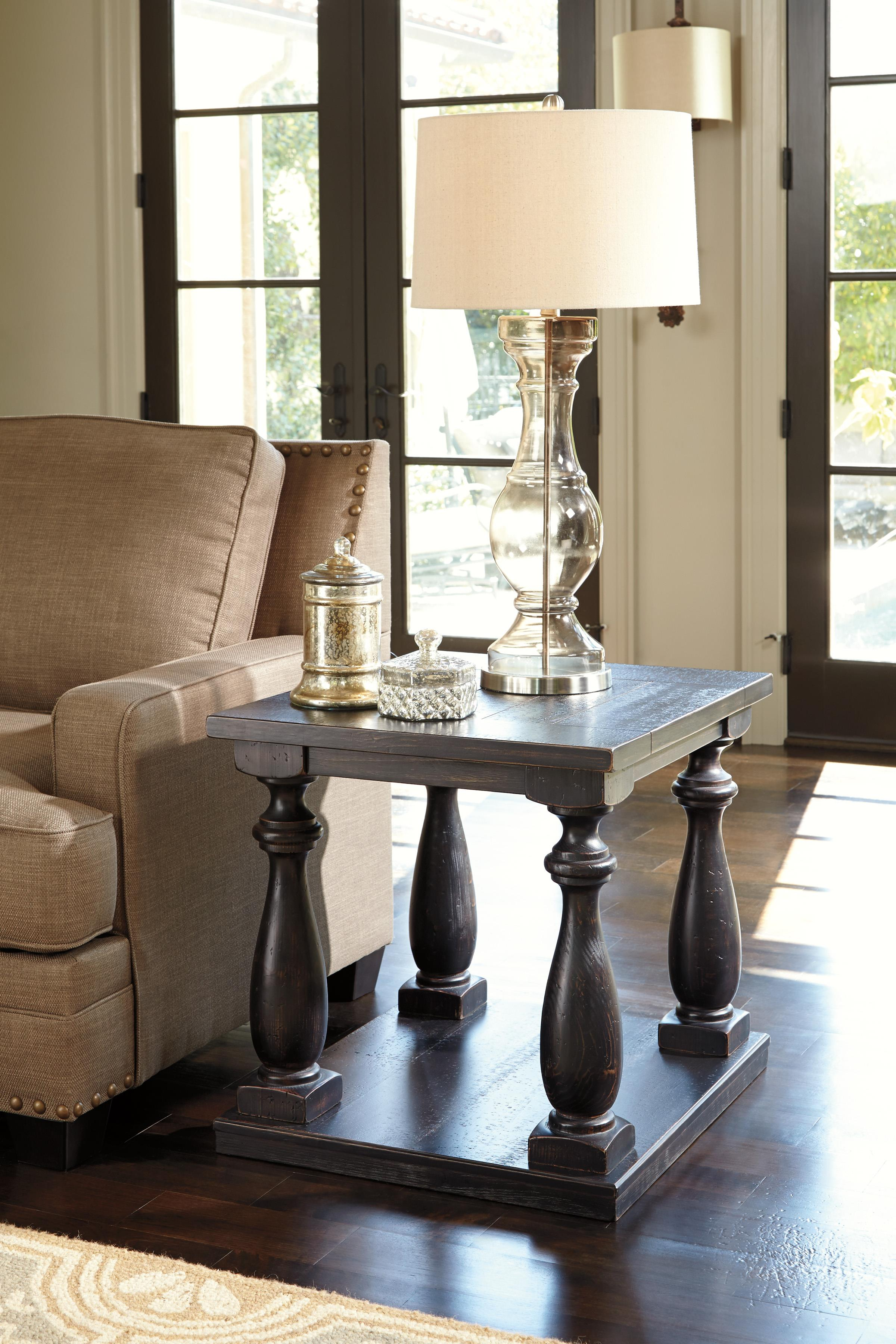Rustic Cherry Rectangular Table Formal Dining Room Set: Signature Design By Ashley Mallacar Rustic Black Finish