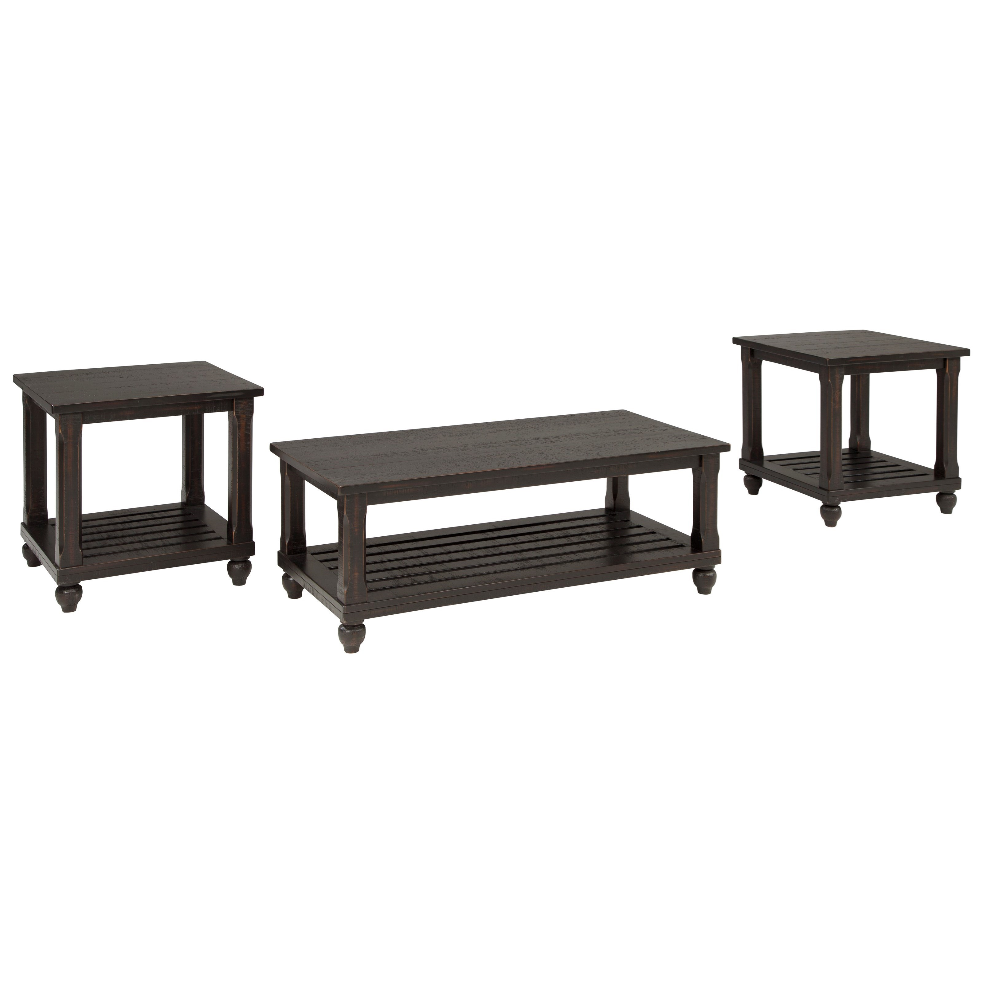 Signature Design by Ashley Mallacar Occasional Table Set - Item Number: T145-13