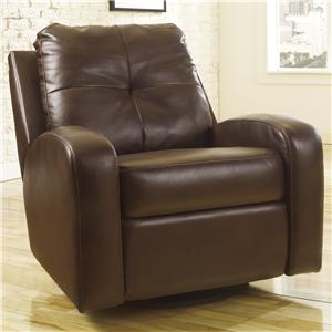 Signature Design by Ashley Furniture Mannix DuraBlend - Espresso Swivel Glider Recliner