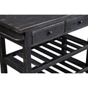 Signature Design by Ashley Marlijo Distressed Black Finish Kitchen Cart with Locking Casters