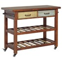 Signature Design by Ashley Marlijo Multicolor Kitchen Cart with Locking Casters
