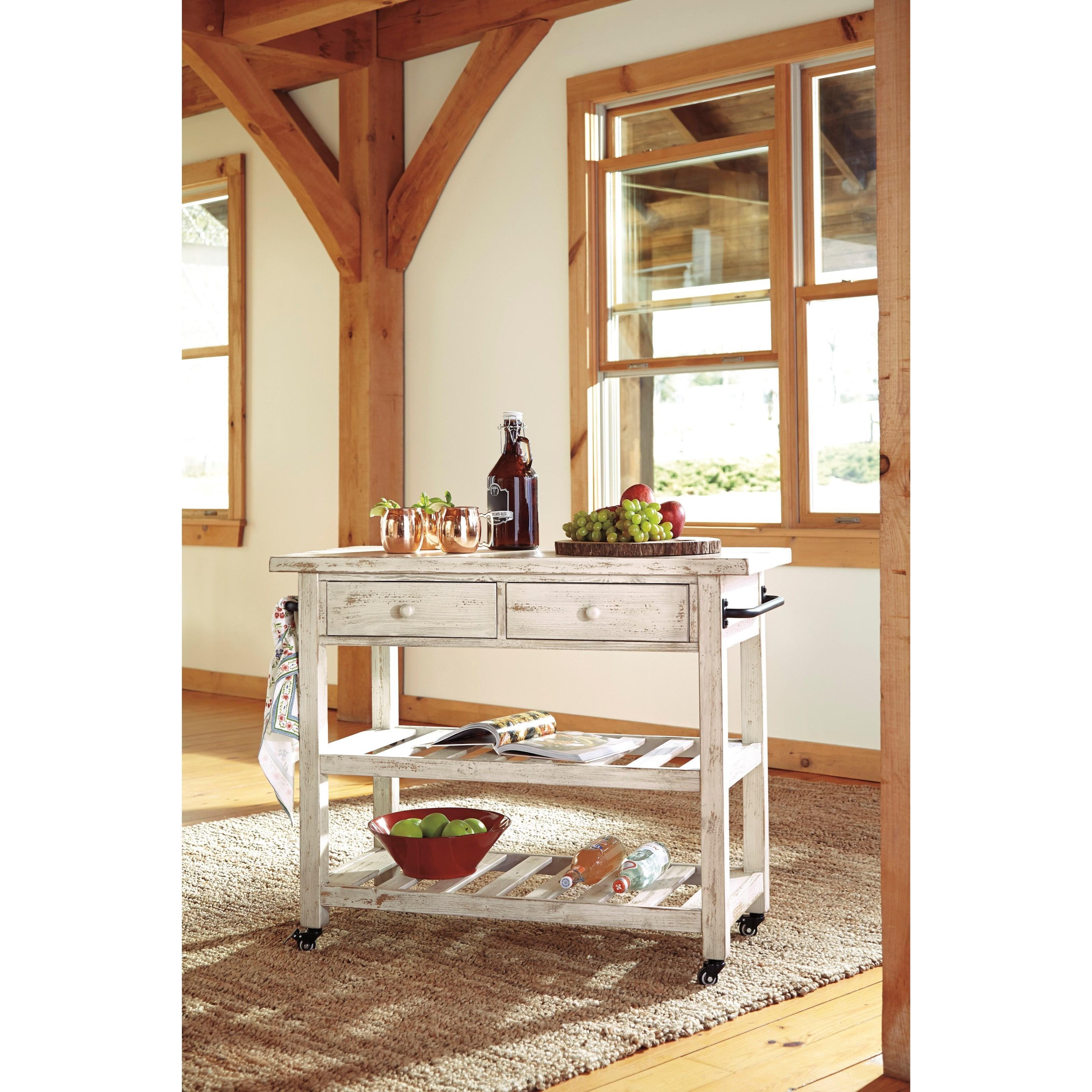 Ashley Signature Design Marlijo Distressed White Finish