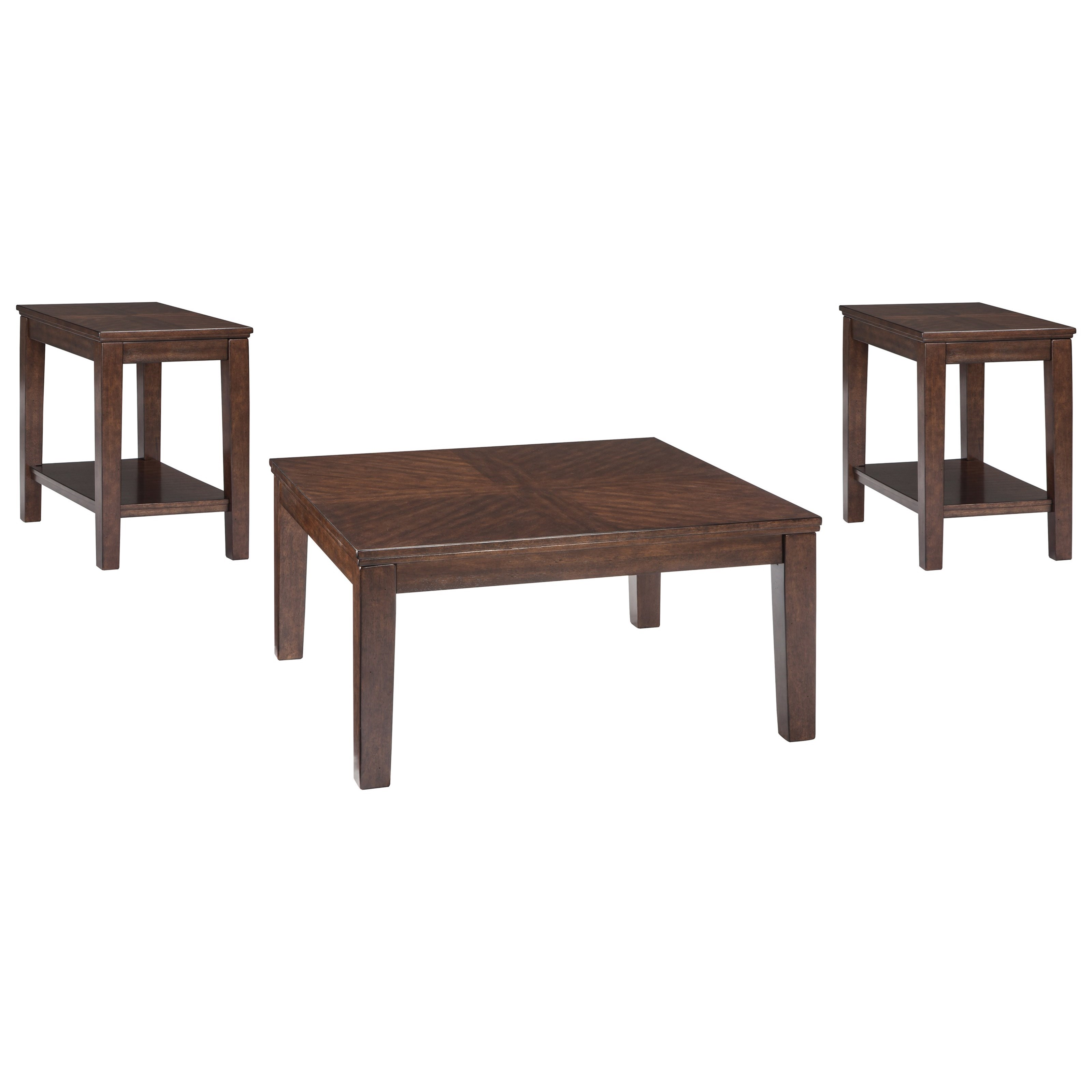 Signature Design By Ashley Marlinton Occasional Table Set With Birch Veneer Wayside Furniture