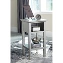 Signature Design by Ashley Marnville Contemporary Accent Table with Cubby & Shelf