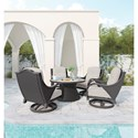 Signature Design by Ashley Marsh Creek Outdoor Conversation Set with Fire Pit Table