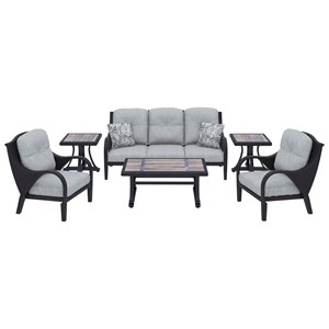 Signature Design by Ashley Marsh Creek Outdoor Conversation Set