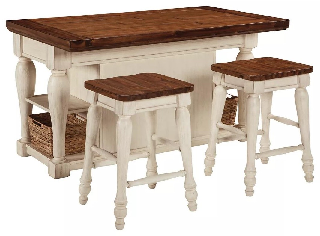 Marsilona Marsilona 3-Piece Kitchen Island by Ashley at Morris Home