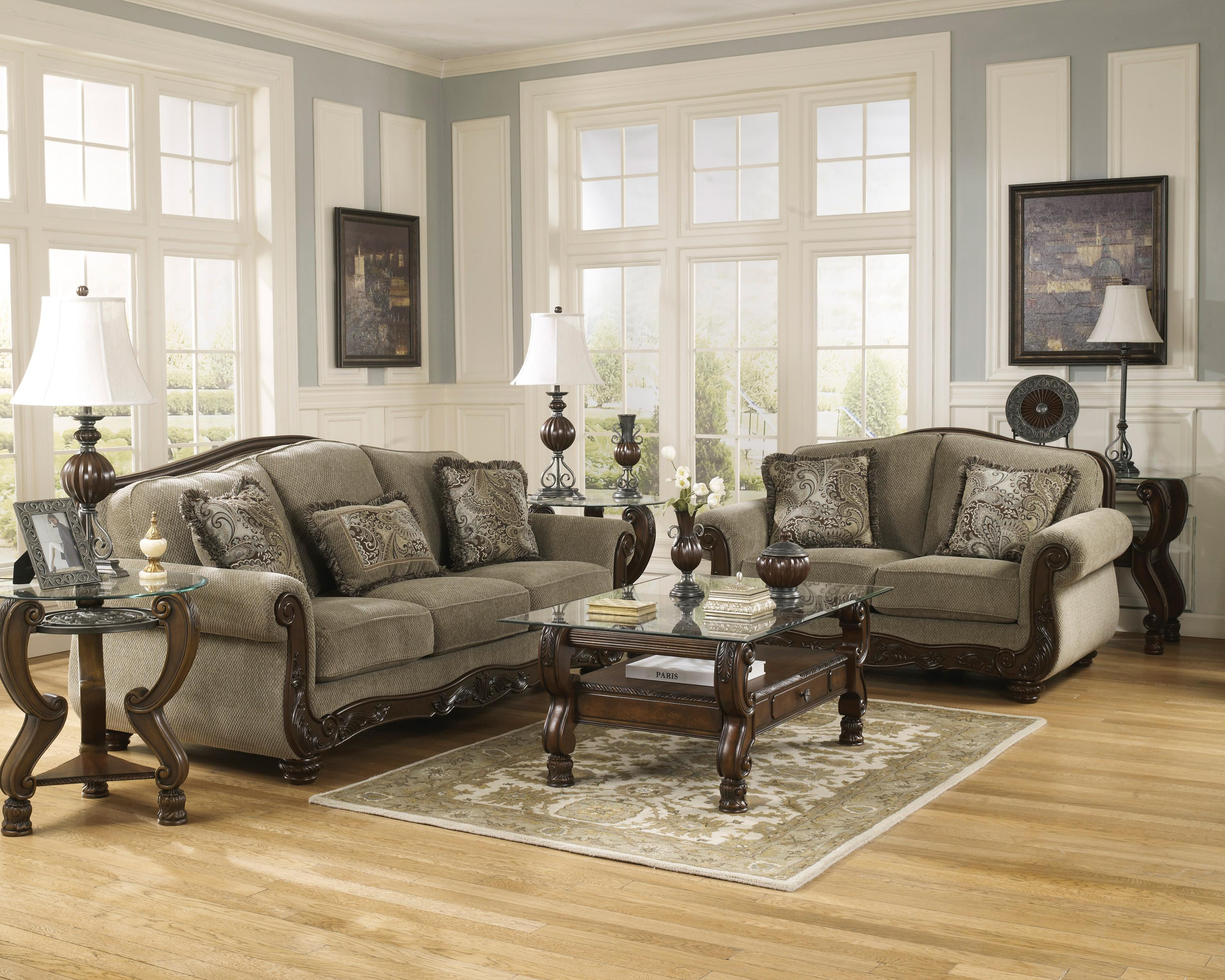 Signature Design by Ashley Martinsburg - Meadow Stationary Living Room Group - Item Number: 57300 Living Room Group 1