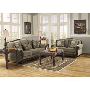 Ashley Signature Design Martinsburg - Meadow Stationary Living Room Group