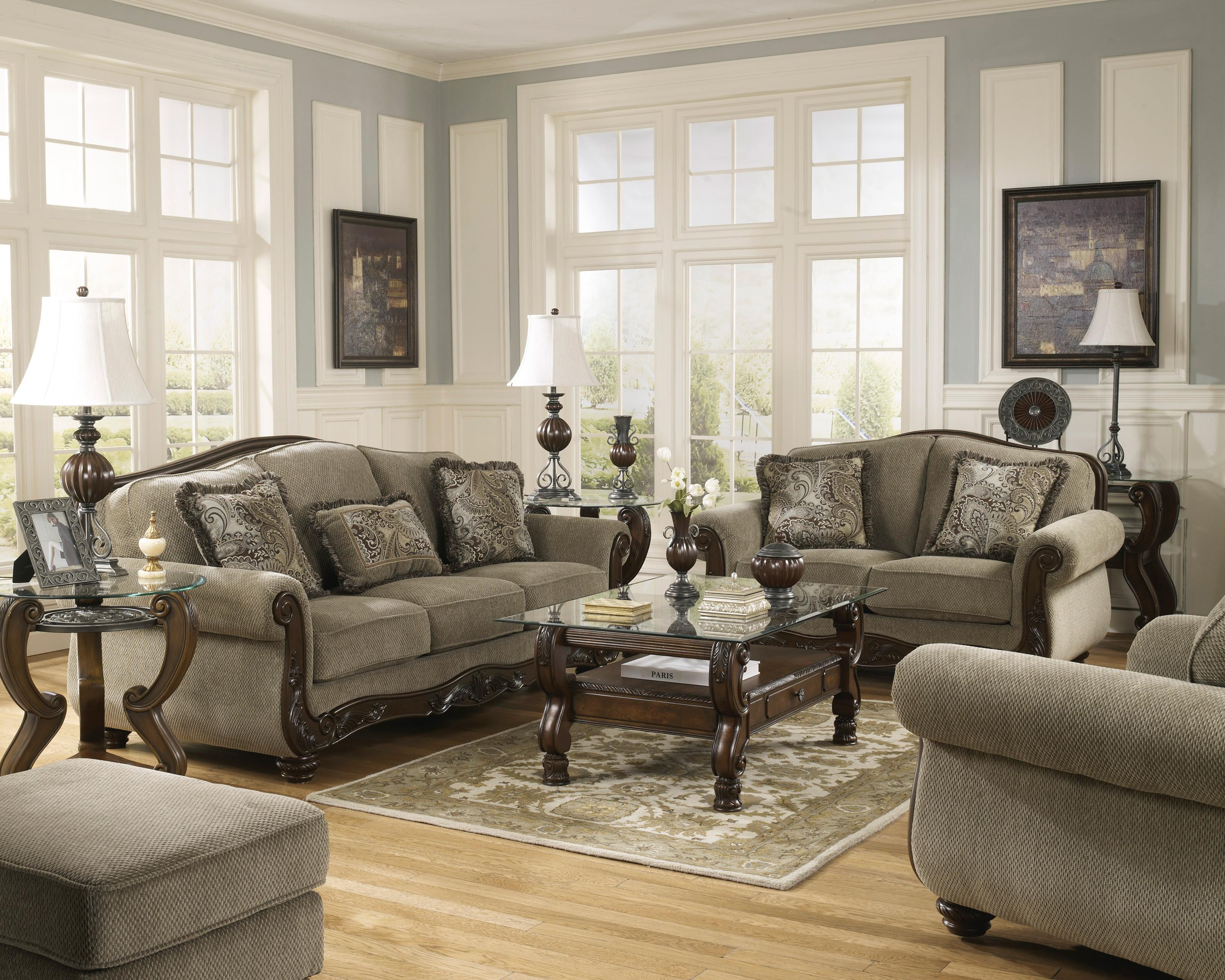 Signature Design by Ashley Martinsburg - Meadow Stationary Living Room Group - Item Number: 57300 Living Room Group 3