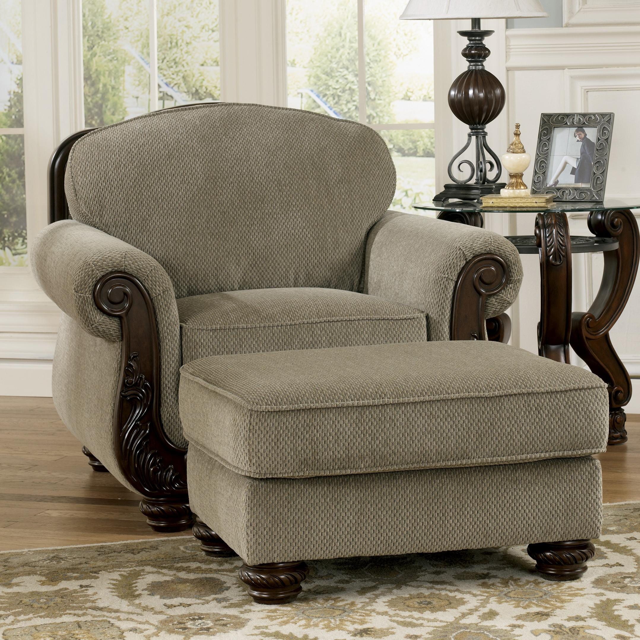 Signature Design by Ashley Martinsburg - Meadow Chair & Ottoman - Item Number: 5730020+14