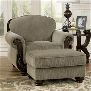 Signature Design by Ashley Furniture Martinsburg - Meadow Chair & Ottoman