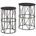 Signature Design by Ashley Marxim Nesting End Tables - Item Number: T506-211