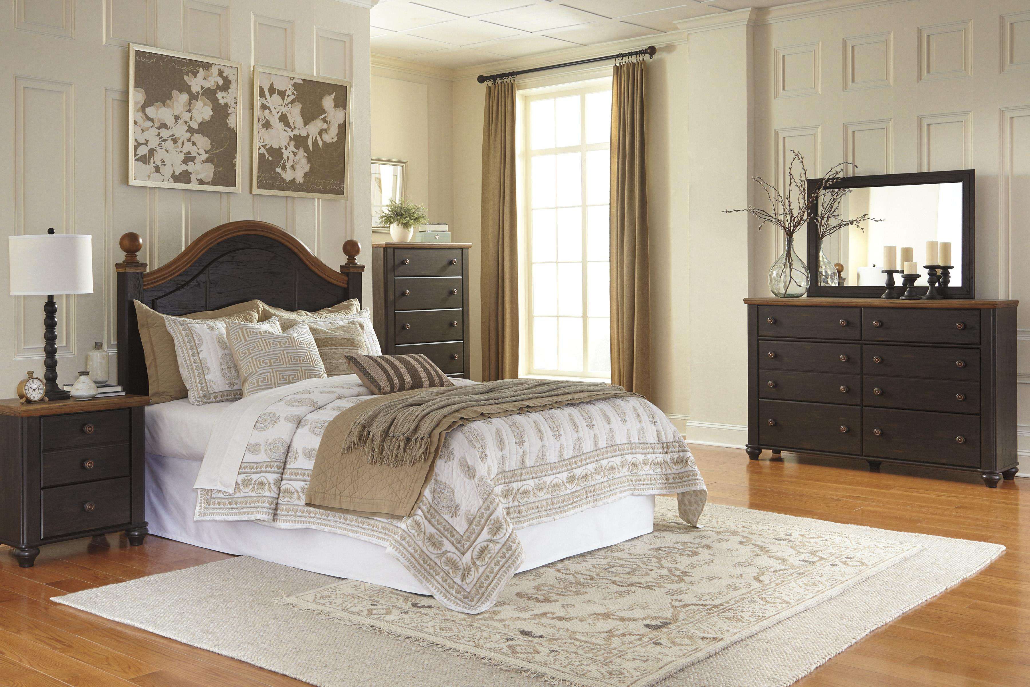 Signature Design by Ashley Maxington Queen Bedroom Group - Item Number: B220 Q Bedroom Group 1