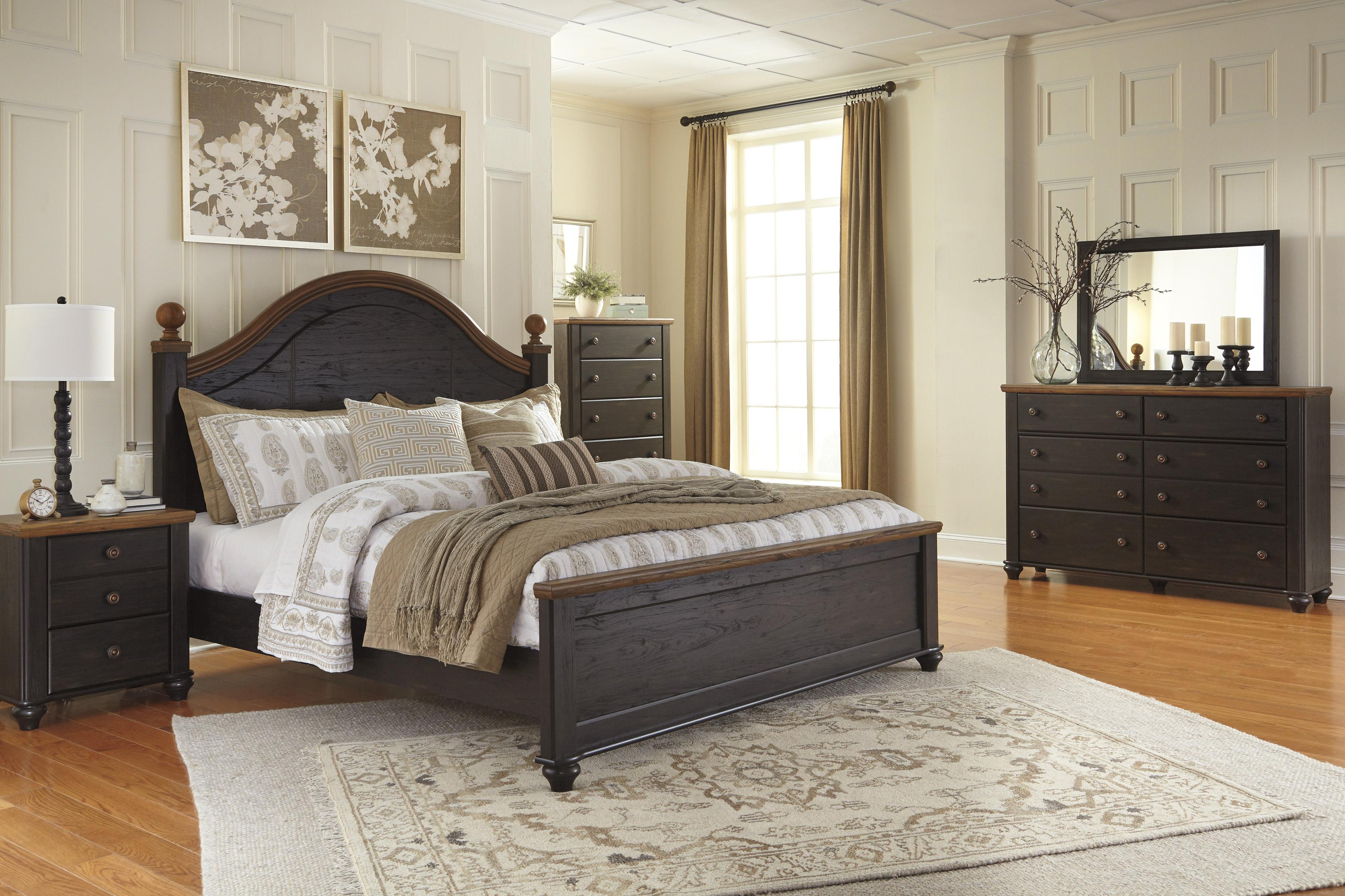 Signature Design by Ashley Maxington Queen Bedroom Group - Item Number: B220 Q Bedroom Group 2