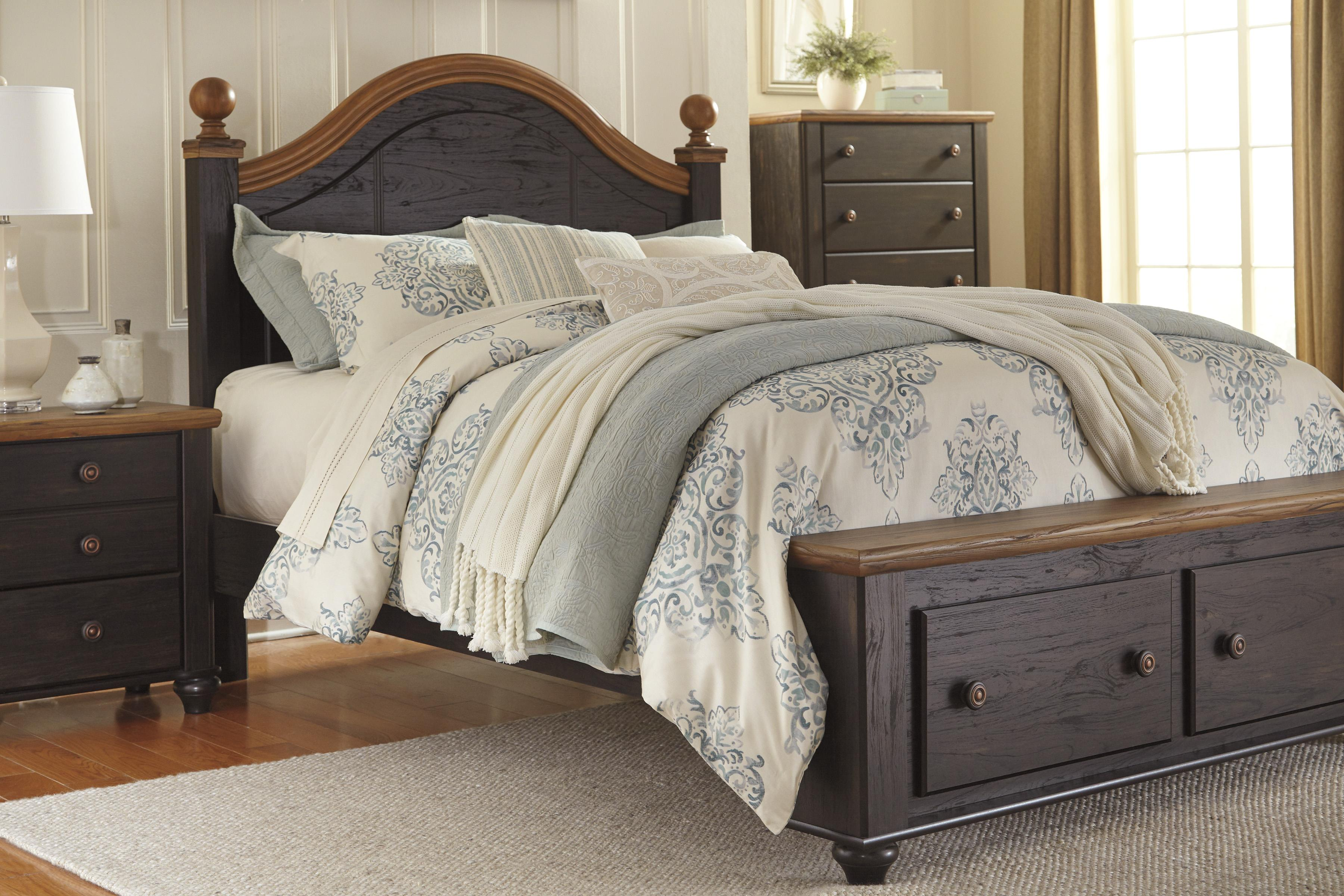 Signature Design By Ashley Maxington Queen Platform Bed With Storage Miskelly Furniture