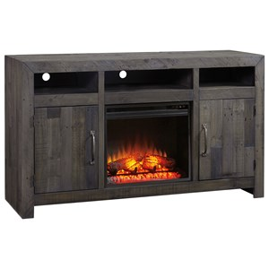 Signature Design by Ashley Mayflyn Large TV Stand with Fireplace Insert