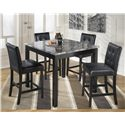 Signature Design by Ashley Maysville Square Counter Table Set - Item Number: D154-223